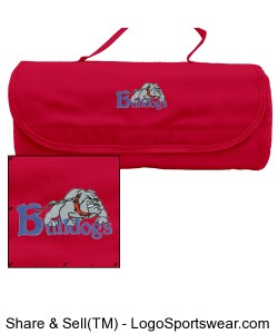 Bulldogs Blanket with case-Red Design Zoom