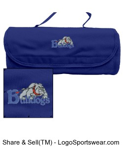Bulldogs Blanket with Case-Blue Design Zoom