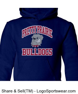 Youth Bulldogs Hoodie Royal Blue Design Zoom