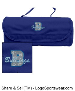 Rollup Blanket with Carrying Case-Royal Blue Design Zoom